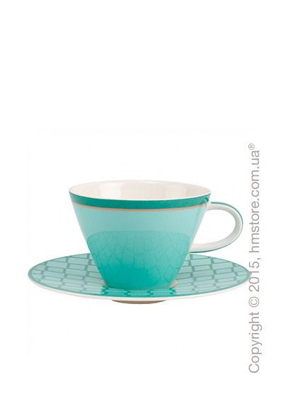 Чашка с блюдцем Villeroy & Boch коллекция Caffè Club Uni 390 мл, Peppermint