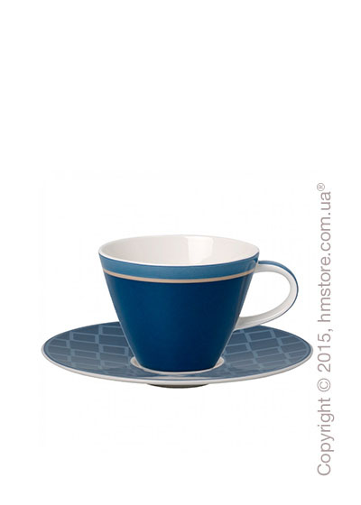 Чашка с блюдцем Villeroy & Boch коллекция Caffè Club Uni 220 мл, Cornflower