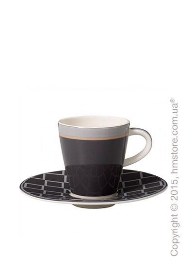 Чашка для эспрессо с блюдцем Villeroy & Boch коллекция Caffè Club Uni 100 мл, Steam