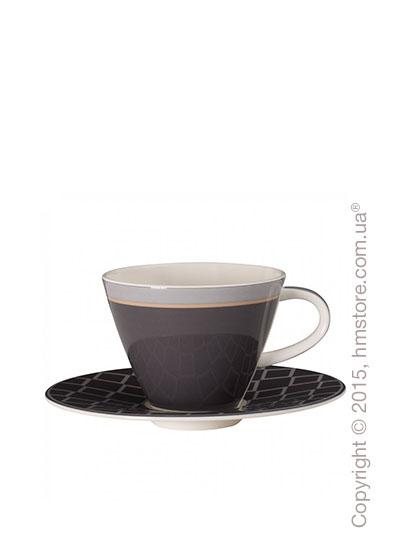 Чашка с блюдцем Villeroy & Boch коллекция Caffè Club Uni 220 мл, Steam