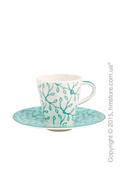 Чашка для эспрессо с блюдцем Villeroy & Boch коллекция Caffe Club Floral 100 мл, Peppermint