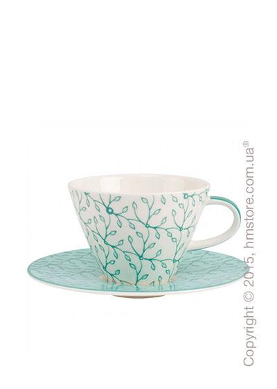 Чашка с блюдцем Villeroy & Boch коллекция Caffè Club Floral 390 мл, Peppermint
