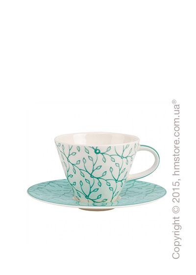 Чашка с блюдцем Villeroy & Boch коллекция Caffè Club Floral 220 мл, Peppermint
