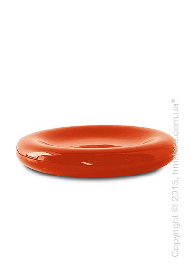 Настольная ваза Calligaris Donut, Ceramic glossy rust brown