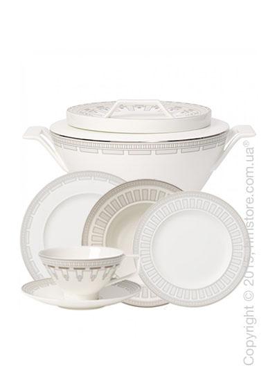 Набор фарфоровой посуды Villeroy & Boch коллекция La Classica Contura на 6 персон, 49 предметов