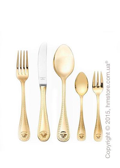 Набор столовых приборов Rosenthal коллекция Versace серия Medusa Gold на 6 персон, 30 предметов