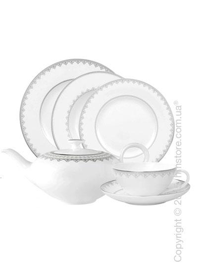 Набор фарфоровой посуды Villeroy & Boch коллекция White Lace на 6 персон, 48 предметов