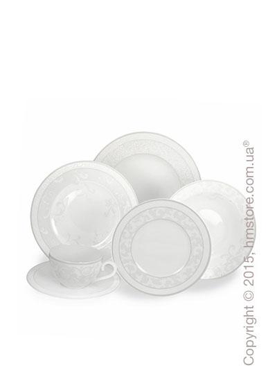 Набор фарфоровой посуды Villeroy & Boch коллекция Gray Pearl на 6 персон, 50 предметов