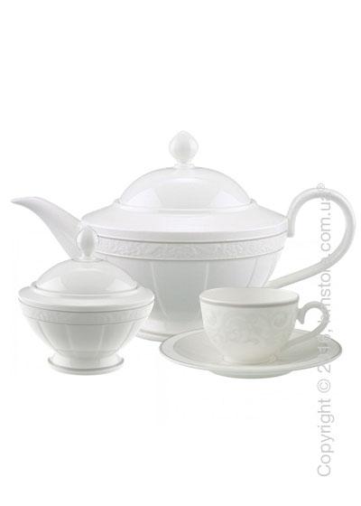 Чайный сервиз Villeroy & Boch коллекция Gray Pearl на 6 персон, 14 предметов