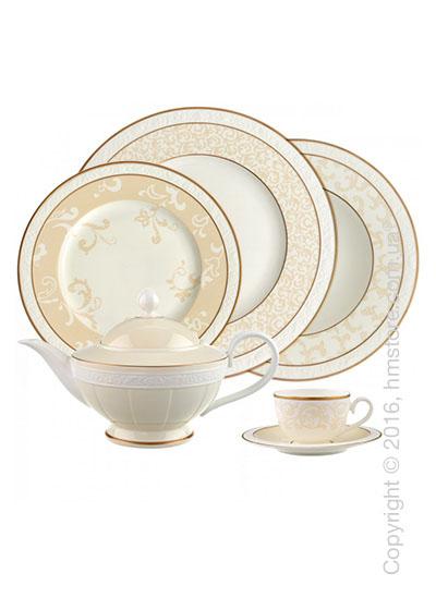 Набор фарфоровой посуды Villeroy & Boch коллекция Ivoire на 6 персон, 50 предметов