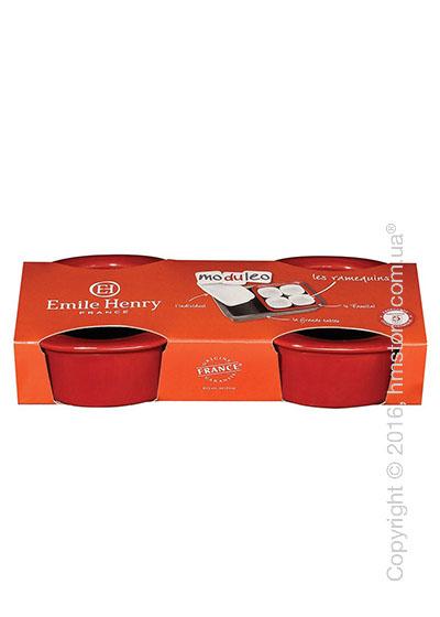 Набор керамических форм для выпечки 9,5 x 9,5 см Emile Henry Moduleo Ovenware, Cerise