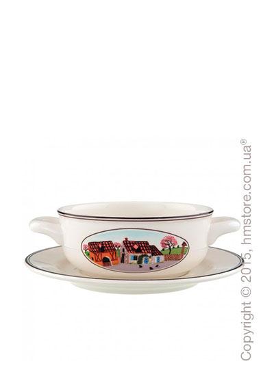 Чашка с блюдцем бульонная Villeroy & Boch коллекция Design Naif, 2 предмета