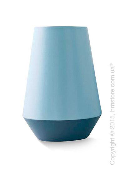 Ваза Calligaris Trio L, Ceramic glossy matt sky blue and pale blue