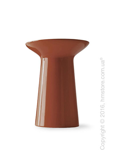 Ваза Calligaris Dafne, Ceramic glossy rust brown