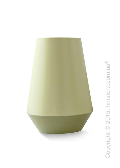 Ваза Calligaris Trio L, Ceramic glossy matt olive green and light green