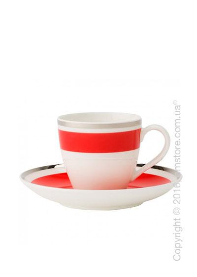 Чашка для эспрессо с блюдцем Villeroy & Boch коллекция Anmut My Color, Red Cherry