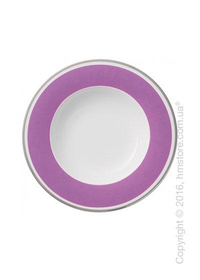 Тарелка столовая глубокая Villeroy & Boch коллекция Anmut My Color, Pink Rose