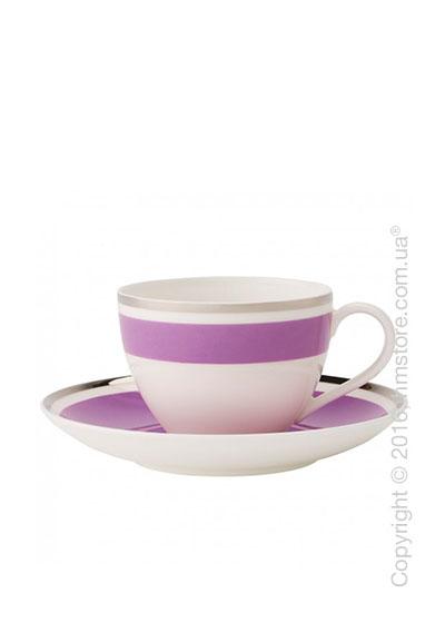 Чашка с блюдцем Villeroy & Boch коллекция Anmut My Color, Pink Rose