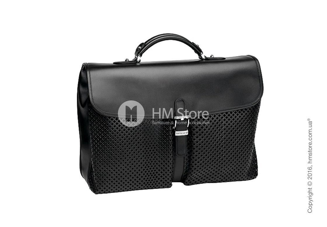 36ce43a3f64b Мужская кожаная сумка для документов Montblanc серия Meisterstuck Soft,  Black Leather