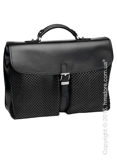 Мужская кожаная сумка для документов Montblanc серия Meisterstuck Soft, Black Leather