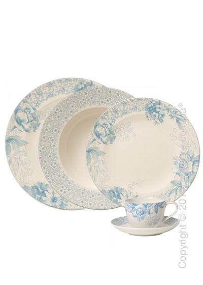 Набор фарфоровой посуды Villeroy & Boch коллекция Floreana на 4 персоны, 20 предметов, Blue