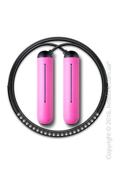 Умная скакалка Tangram Smart Rope, M size, Black + силиконовые накладки Pink Soft Grip