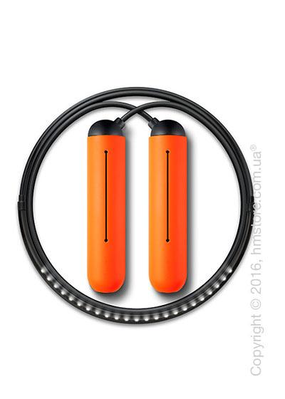 Умная скакалка Tangram Smart Rope, M size, Black + силиконовые накладки Orange Soft Grip