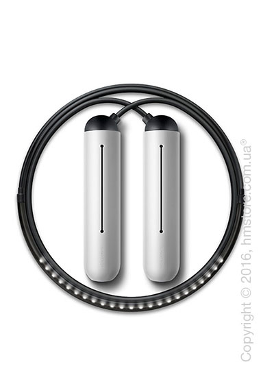 Умная скакалка Tangram Smart Rope, M size, Black + силиконовые накладки Neutral Soft Grip