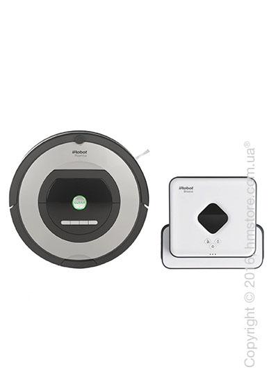 Комплект – робот-уборщик iRobot Roomba 775, робот-уборщик iRobot Braava 390T