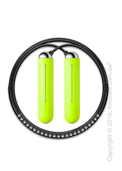 Умная скакалка Tangram Smart Rope, M size, Chrome + силиконовые накладки Green Soft Grip