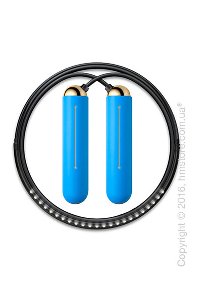 Умная скакалка Tangram Smart Rope, M size, Gold + силиконовые накладки Blue Soft Grip