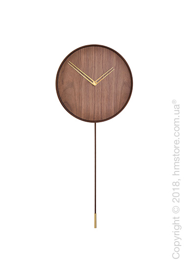 Часы настенные с маятником Nomon Swing, Gold