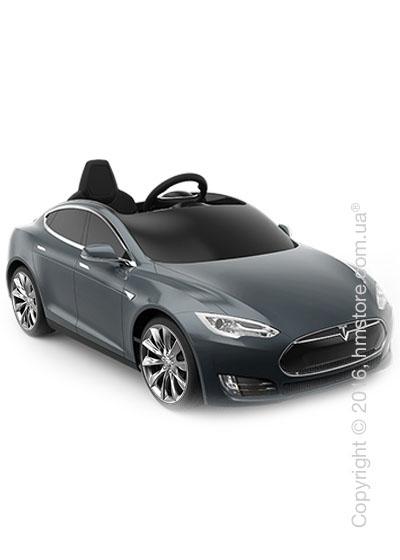 Электромобиль детский Tesla Radioflyer Model S for kids, Silver Turbine Wheels, Midnight Silver Metallic