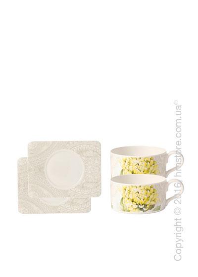 Набор чашек для чая Villeroy & Boch коллекция Quinsai Garden на 2 персоны, 4 предмета