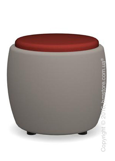 Пуф Calligaris Candy, Plastic matt taupe and Fabric red