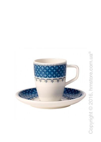 Чашка для эспрессо с блюдцем Villeroy & Boch коллекция Casale Blu 100 мл