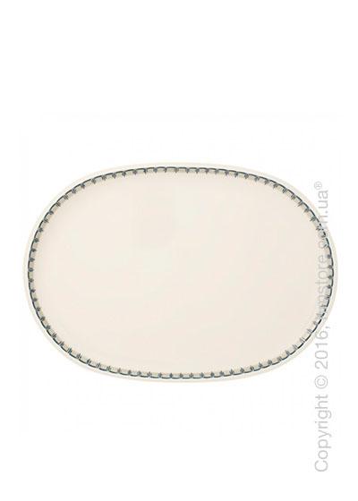 Блюдо для подачи Villeroy & Boch коллекция Casale Blu, 43x30 см