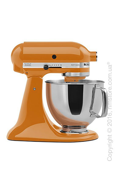 Планетарный миксер KitchenAid Artisan Series 5-Quart Tilt-Head Stand Mixer Plus Bowl 4.8 л, Tangerine. Купить