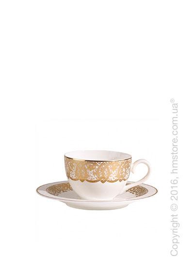 Чашка с блюдцем Villeroy & Boch коллекция Golden Oasis, 2 предмета