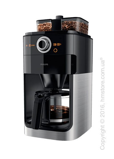 Кофеварка Philips Grind & Brew Coffee maker, Black and Stainless Steel