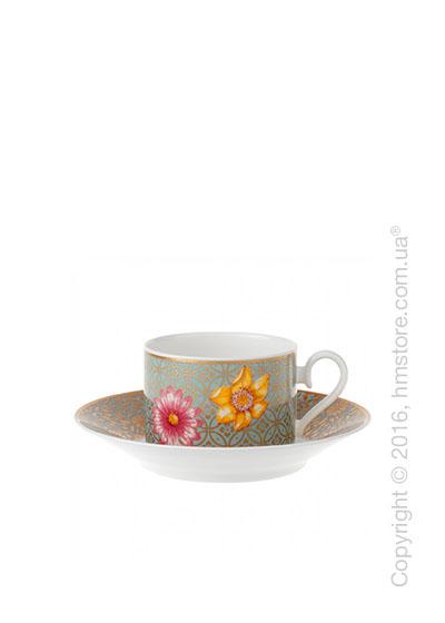 Чашка для чая с блюдцем Villeroy & Boch коллекция Aureus 200 мл, 2 предмета