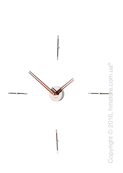 Часы настенные Nomon Mini Merlin 4 N Wall Clock, Walnut
