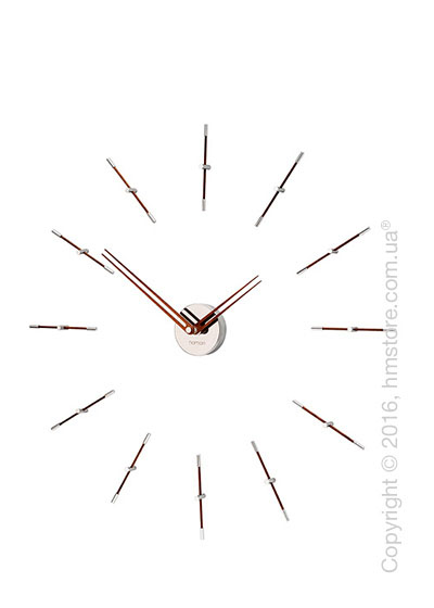 Часы настенные Nomon Mini Merlin 12 N Wall Clock, Walnut