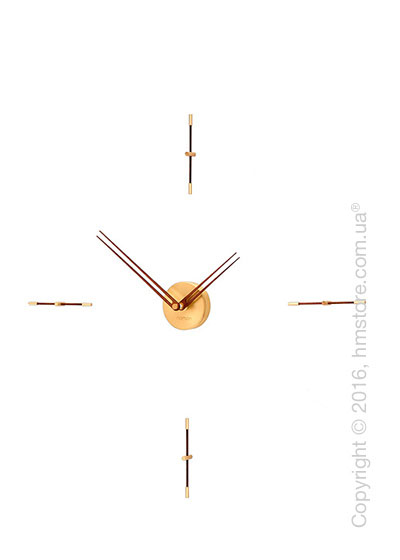 Часы настенные Nomon Mini Merlin 4 Gold N Wall Clock, Walnut