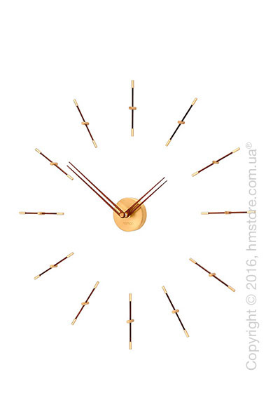 Часы настенные Nomon Mini Merlin 12 Gold N Wall Clock, Walnut