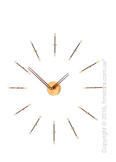 Часы настенные Nomon Mini Merlin 12 Gold N Wall Clock, Walnut