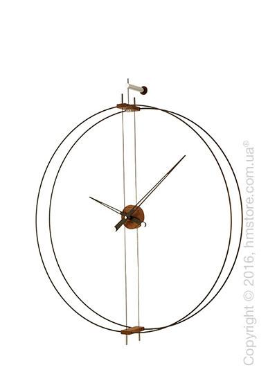 Часы настенные Nomon Mini Barcelona Wall Clock, Walnut