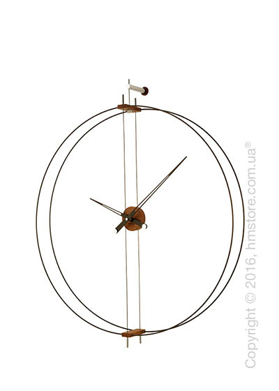 Часы настенные Nomon Mini Barcelona Wall Clock, Walnut