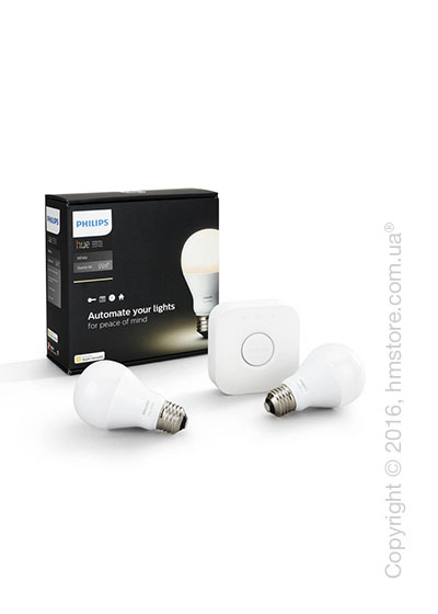 Умные лампы PHILIPS Hue Starter kit 9.5W E27 bulb White