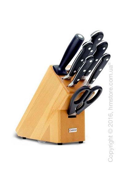 Набор ножей на подставке Wüsthof Knife block коллекция Classic, 7 предметов, Natural wood